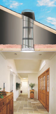 Velux sun tunnel skylights discount windows doors for Sun tunnel light