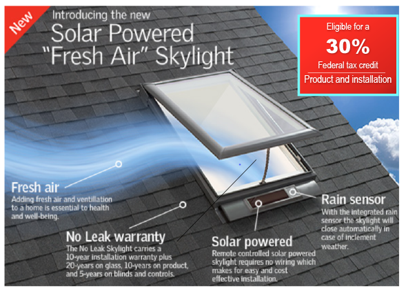 Velux skylights discount windows doors kaneohe hi for Velux solar skylight tax credit